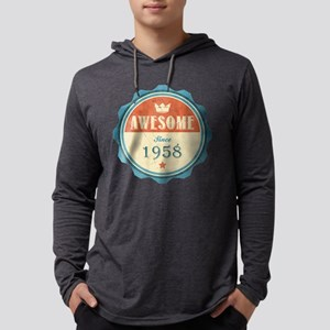 Awesome Since 1958 Mens Hooded Shirt