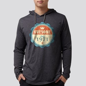 Awesome Since 1971 Mens Hooded Shirt