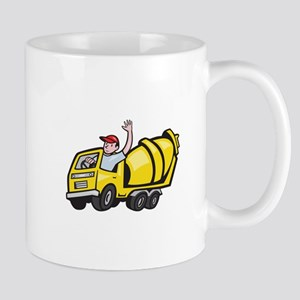Construction Worker Driver Cement Mixer Truck Smal