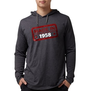 Stamped Made In 1958 Mens Hooded Shirt