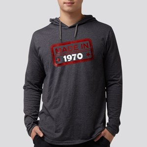 Stamped Made In 1970 Mens Hooded Shirt