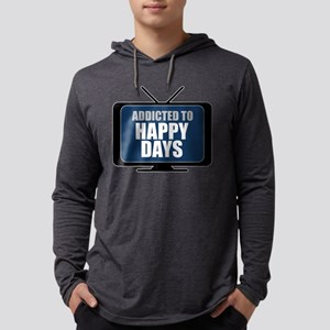 Addicted to Happy Days Mens Hooded Shirt
