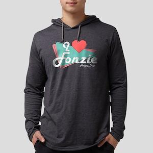 I Heart Fonzie Mens Hooded Shirt