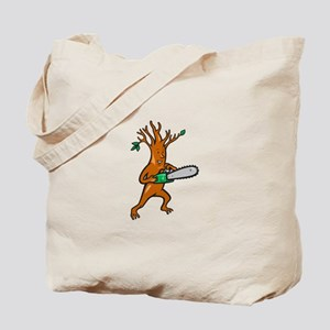 Tree Man Arborist With Chainsaw Tote Bag