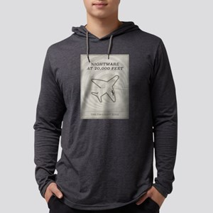 Nightmare at 20,000 Feet Minimal Mens Hooded Shirt