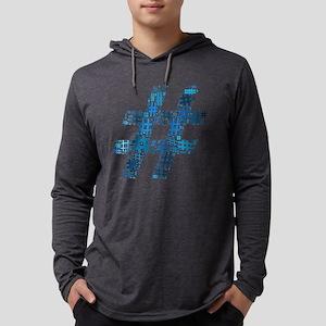 Blue Hashtag Cloud Mens Hooded Shirt