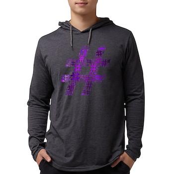 Purple Hashtag Cloud Mens Hooded Shirt