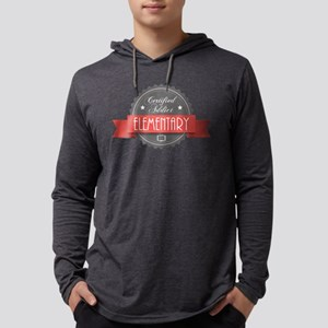 Certified Elementary Addict Mens Hooded Shirt