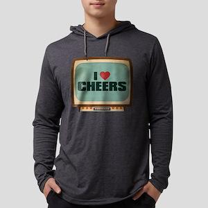 Retro I Heart Cheers Mens Hooded Shirt