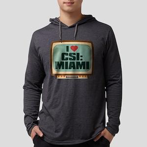Retro I Heart CSI: Miami Mens Hooded Shirt