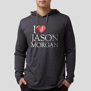 I Heart Jason Morgan Mens Hooded Shirt