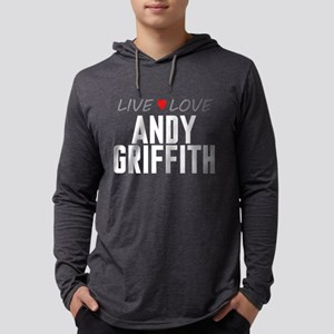 Live Love Andy Griffith Mens Hooded Shirt