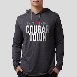 Live Love Cougar Town Mens Hooded Shirt
