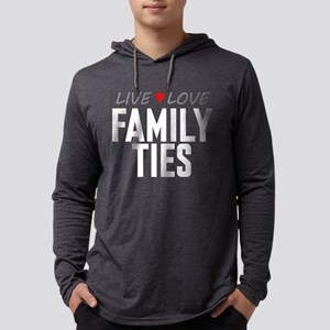 Live Love Family Ties Mens Hooded Shirt