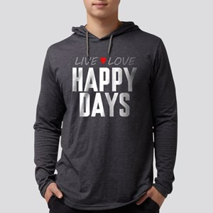Live Love Happy Days Mens Hooded Shirt