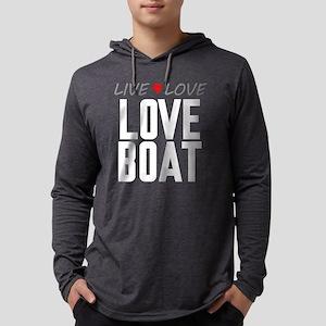 Live Love Love Boat Mens Hooded Shirt