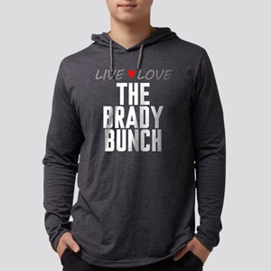 Live Love The Brady Bunch Mens Hooded Shirt