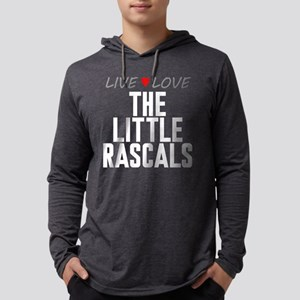 Live Love The Little Rascals Mens Hooded Shirt
