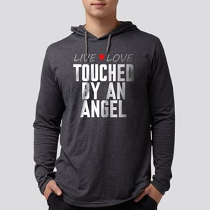 Live Love Touched by an Angel Mens Hooded Shirt