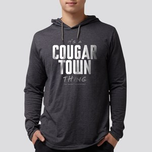 It's a Cougar Town Thing Mens Hooded Shirt