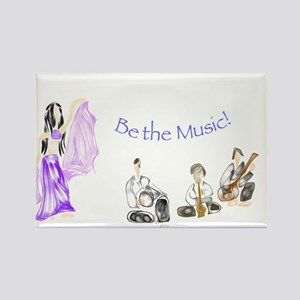 Be the Music Rectangle Magnet