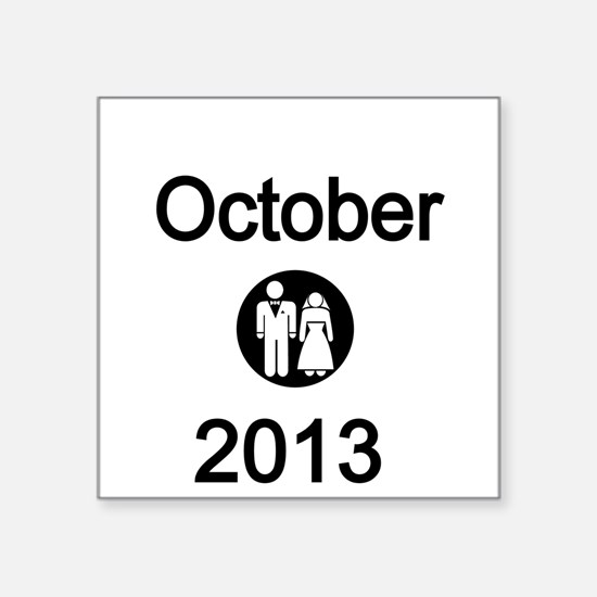October 2013 Bride and Groom Sticker