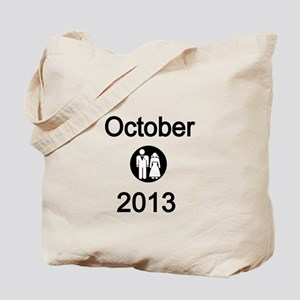 October 2013 Bride and Groom Tote Bag