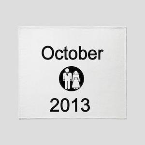 October 2013 Bride and Groom Throw Blanket