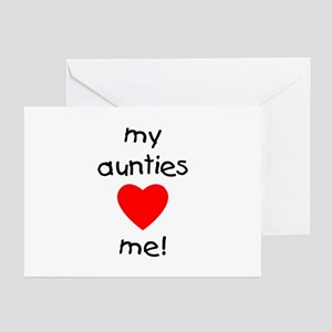 My aunties love me Greeting Cards (Pk of 10)