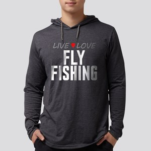 Live Love Fly Fishing Mens Hooded Shirt
