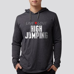 Live Love High Jumping Mens Hooded Shirt