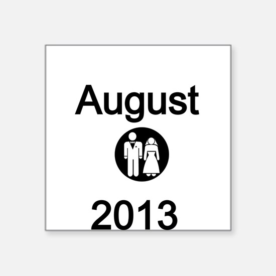 August 2013-Bride and Groom Sticker