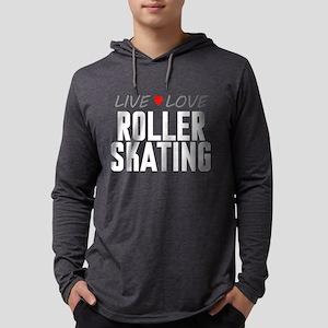 Live Love Roller Skating Mens Hooded Shirt