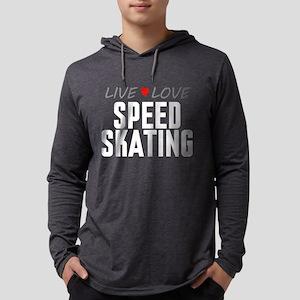 Live Love Speed Skating Mens Hooded Shirt