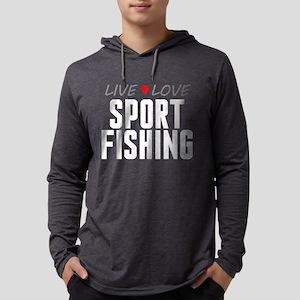 Live Love Sport Fishing Mens Hooded Shirt