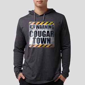Warning: Cougar Town Mens Hooded Shirt