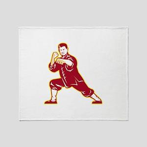 Shaolin Kung Fu Martial Arts Master Retro Throw Bl