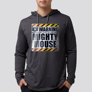 Warning: Mighty Mouse Mens Hooded Shirt