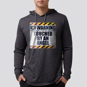 Warning: Touched by an Angel Mens Hooded Shirt
