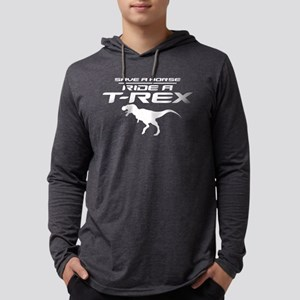 Save a Horse, Ride a T-Rex Mens Hooded Shirt
