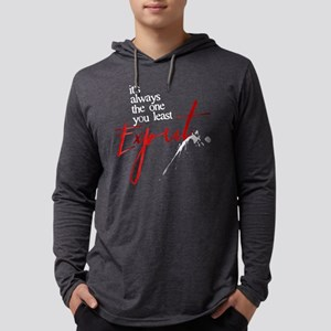 It's Always Who You Least Exp Mens Hooded Shirt