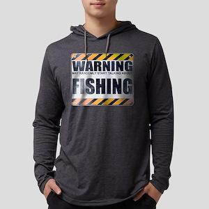 Warning: Fishing Mens Hooded Shirt