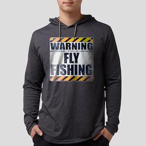 Warning: Fly Fishing Mens Hooded Shirt