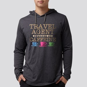 Travel Agent Powered by Caffeine Mens Hooded Shirt