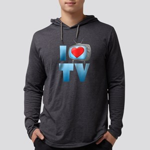 I Heart TV Mens Hooded Shirt
