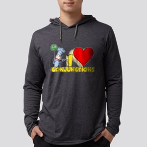 I Heart Conjunctions Mens Hooded Shirt