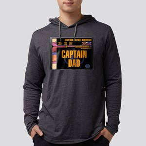 Captain Dad Mens Hooded Shirt