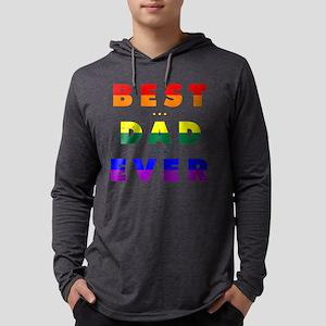 Gay Pride Best Dad Ever Mens Hooded Shirt