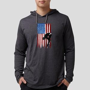 USA Flag Team Diving Mens Hooded Shirt