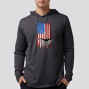 USA Flag Team Swimming Mens Hooded Shirt